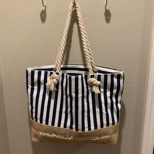 NWT Wicked Weasel Beach Canvas Tote